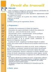 Fichier PDF droit du travail