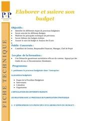 Fichier PDF elaborer et suivre son budget