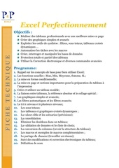 Fichier PDF excel perfectionnement