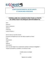 candidature dtd