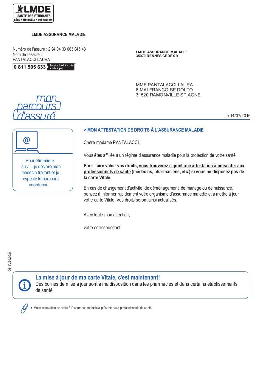 attestation carte vitale lmde AttestationDeDroits par Open Print   Fichier PDF