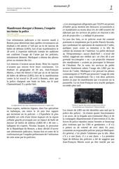 rennes manifestant eborgne l enquete incrimine la police