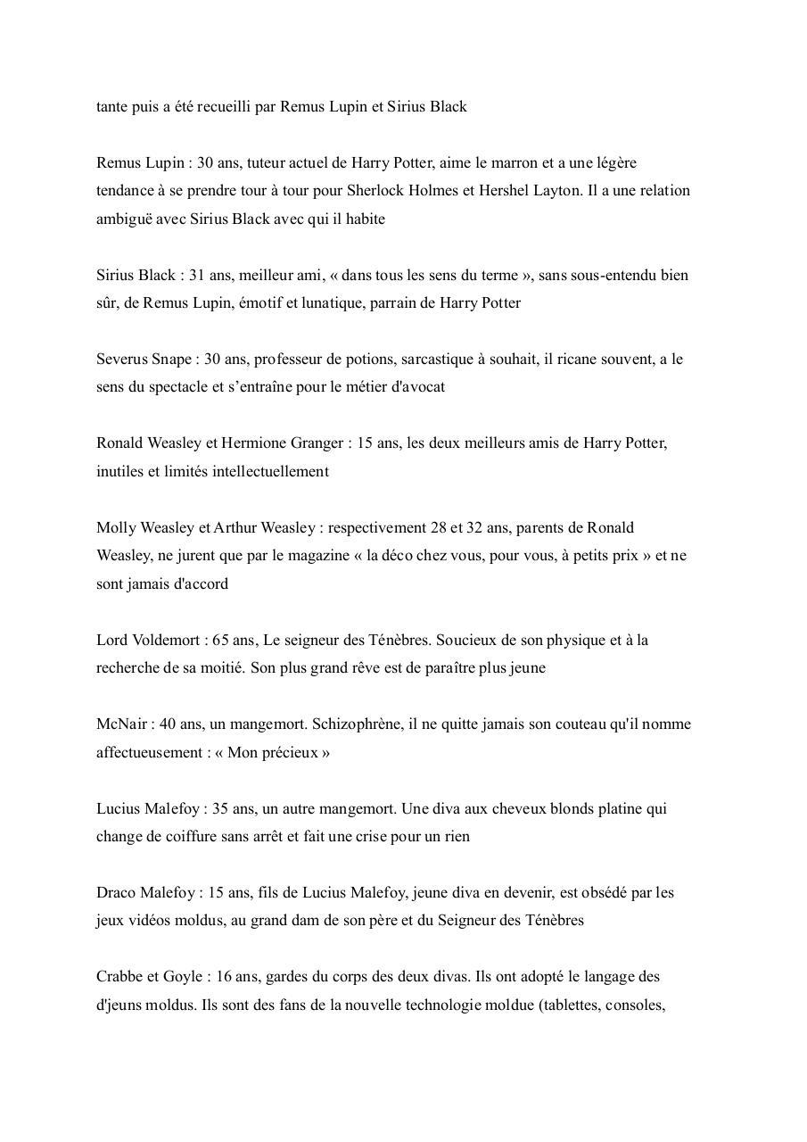 Fanfiction Harry Potter Ah les joies du shopping ! - Fichier PDF