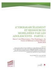 harcelement et ressources partie 1 rapport cresam
