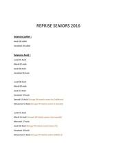 reprise seniors 2016