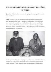 l illumination et la mort du pere d osho
