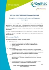 appel a projets qualireg e learning