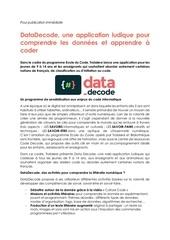 Fichier PDF cp datadecode