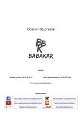 dossier de presse babakar