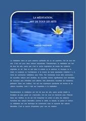la meditation art de tous les arts