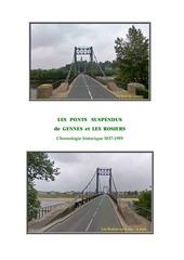 les ponts suspendus de gennes et les rosiers 1837 1959