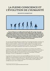 la pleine conscience et l evolution de l humanite