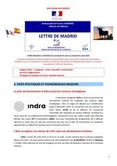 madrid lettre defense
