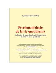 Fichier PDF psychopahtologie freud livre