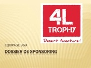Fichier PDF dossier de sponsoring