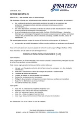 offre d emploi productization engineer 2016