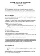 reglement jeu concours het groot leuven leuven bsbl fr