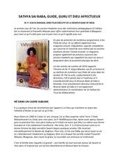 sathya sai baba guide guru et dieu affectueux