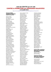 20160718 deputes refuse vote fermeture mosquees salafistes
