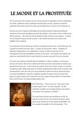 le moine et la prostituEe histoire bouddhiste