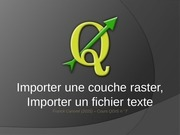 g importer une couche raster 1