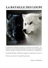 la bataille des loups sagesse amerindienne