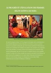le progres et l education des femmes selon sathya sai baba