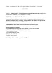 conseil d administration du 20 mai 2016