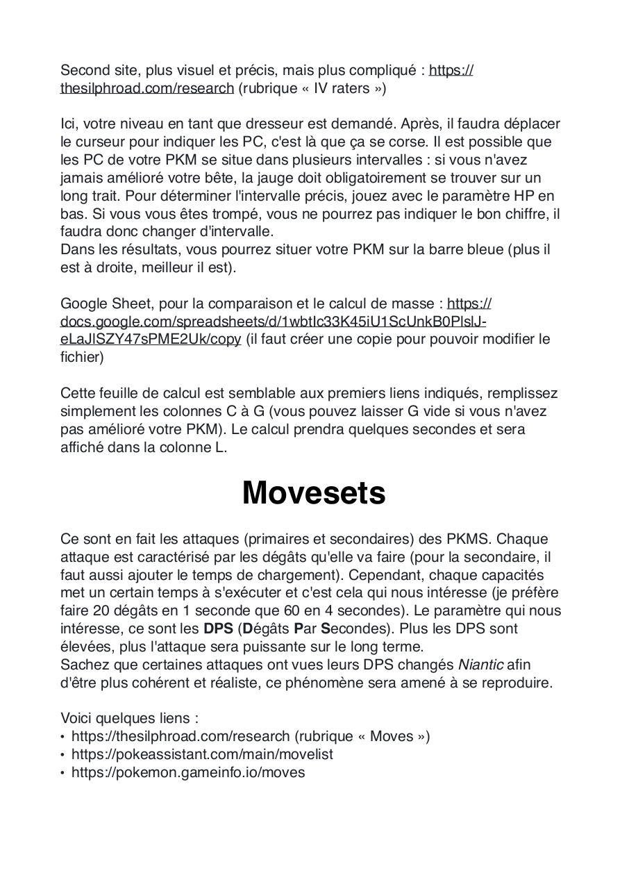 Pokemon Move List Pdf