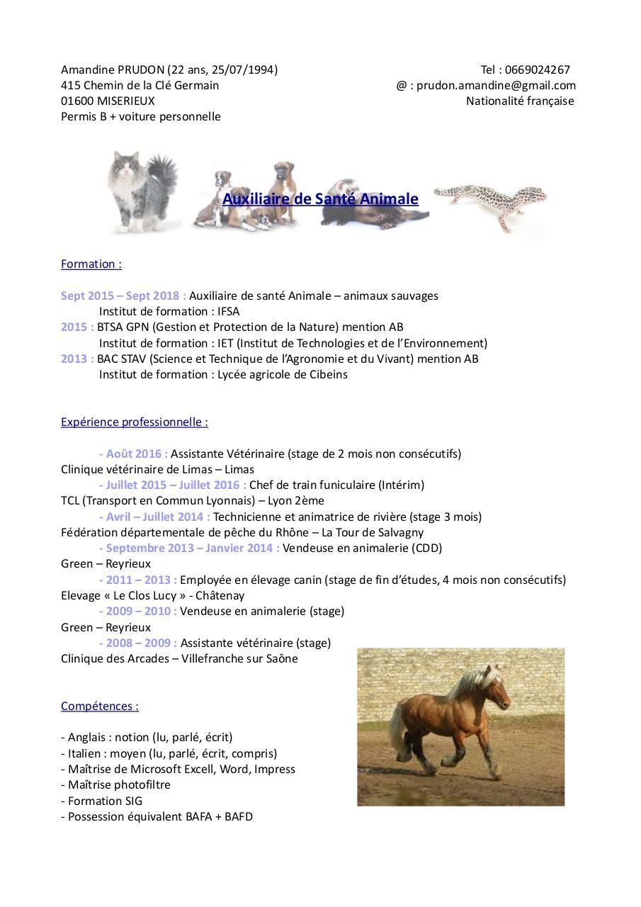 auxiliaire de sant u00e9 animale