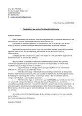 lettre motivation clinique veterinaire