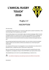 inscription rugby touch