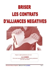 brisement des alliances negatives