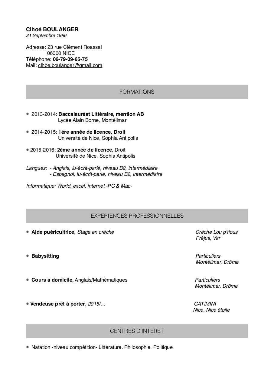 2 page cv format pdf
