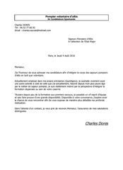 Lettre De Motivation Pompiers Altis Charles Dores Fichier Pdf