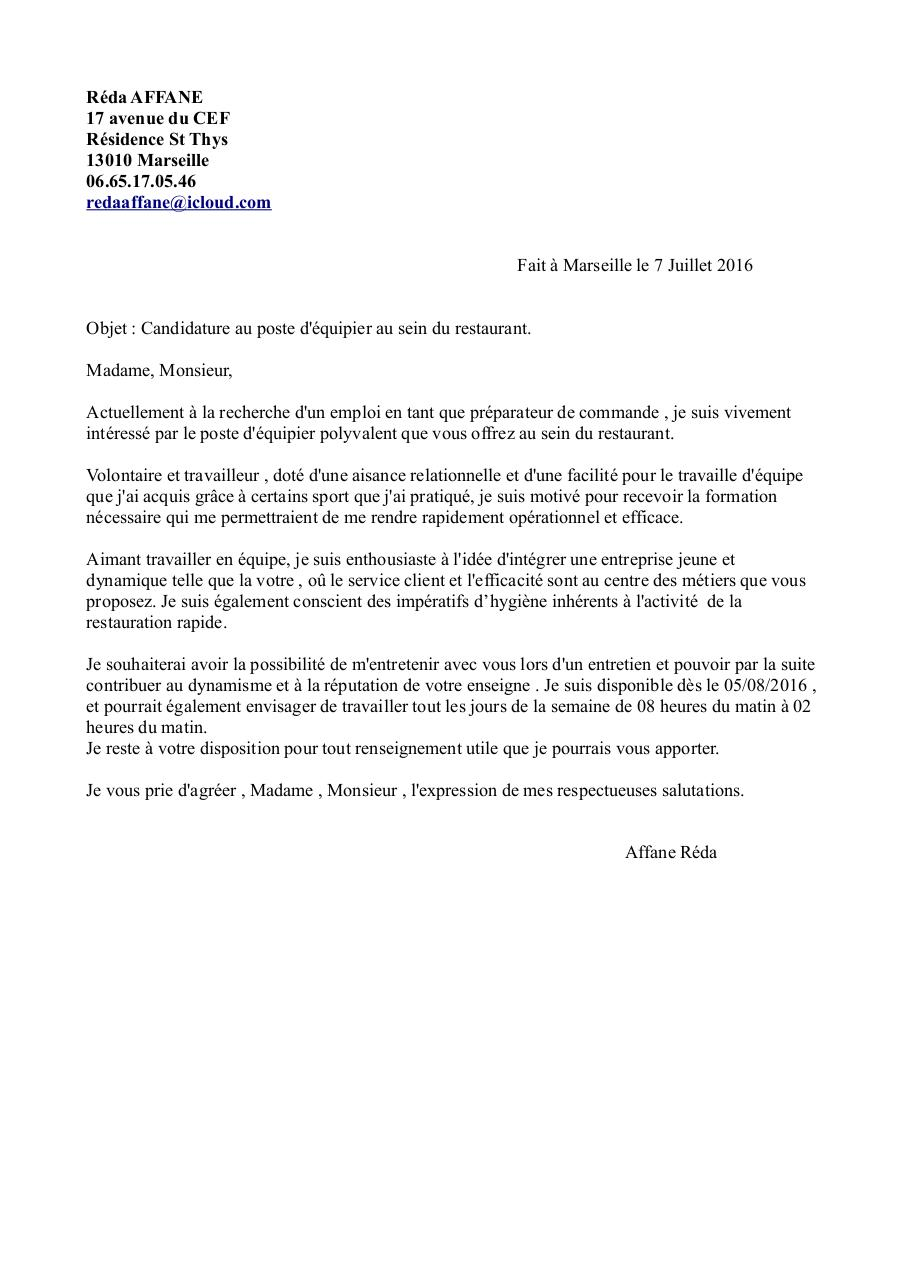 lettre de motivation restauration x2  lettre de motivation restauration x2 pdf