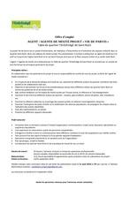 offre d emploi agent de mixite 2016
