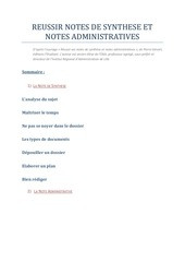 Fichier PDF reussir notes synthese et administrative