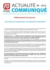 0916 fedecommunique prelevement a la source 030816
