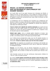2016 molex declaration commune ftm cgt confederation