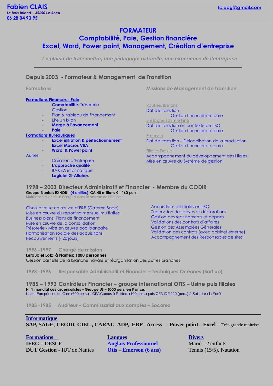 cv formateur par jeanne - page 1  1