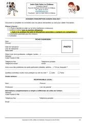 dossier inscription judo club solre le chateau 2016 2017