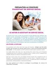 fiche metier assistant de service social
