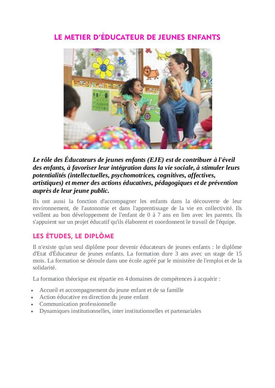 e3e44f66e5c FICHE METIER EDUCATEUR DE JEUNES ENFANTS par SCHOOL3 - Fichier PDF