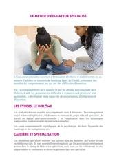 fiche prepa educateur spEcialisE