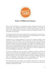 projet 10 millions de francais