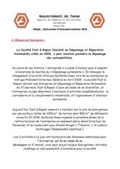 Fichier PDF demande d entreprise