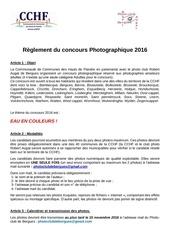 reglement concours photographique 2016
