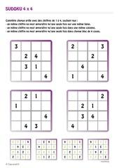 Fichier PDF sudoku enfant