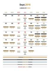 calendrier london paris sept16